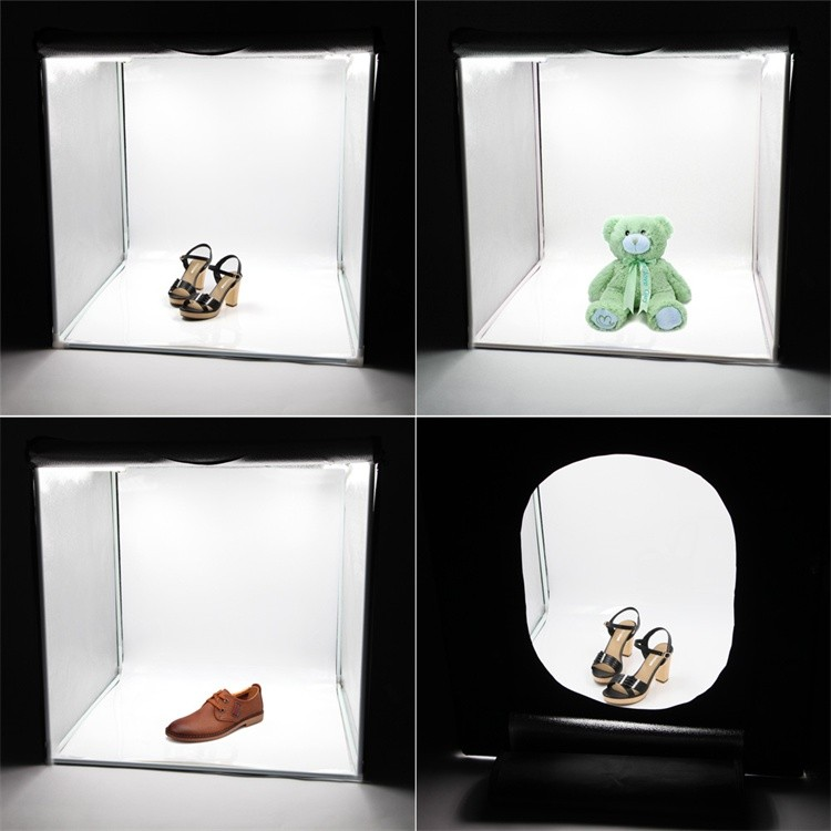 Tabletop Studio Photography Tent Kit led Softbox 80x80cm Professional Photography Light Box