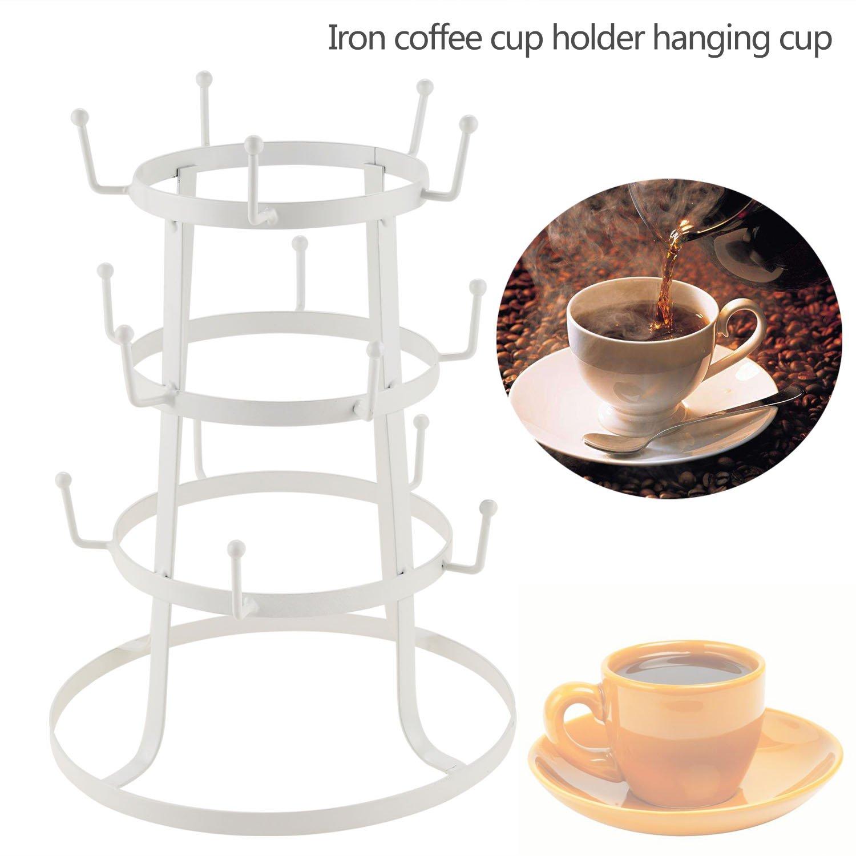 Coffeewhite Metal Cup Holder Home Kitchen Stand Organizer Drinkware