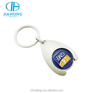 Cheap wholesale supermarket shopping cart trolley token coin enamel keychain