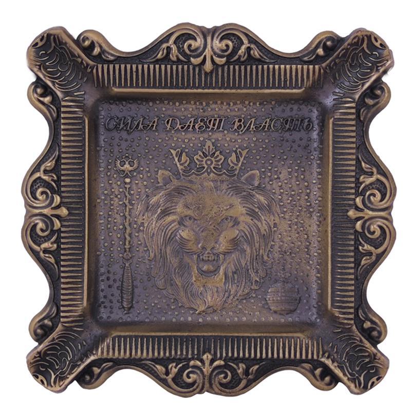 Exclusively designed metal crafts древний бронзовый портативный пепельница Автомобиль Пепельница держатель для мобильного телефона Подарки для Мужчин