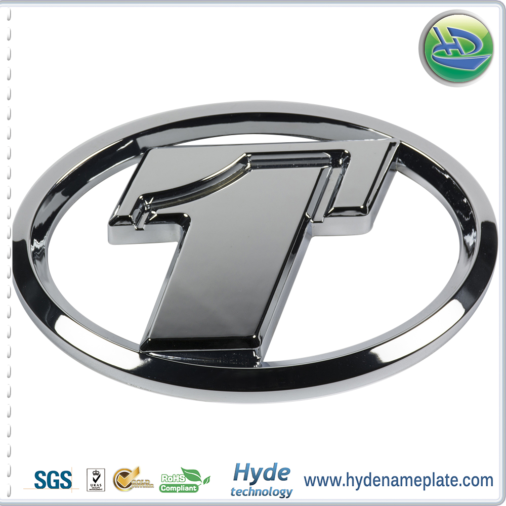 Custom metal car emblem badges plastic sticker cars