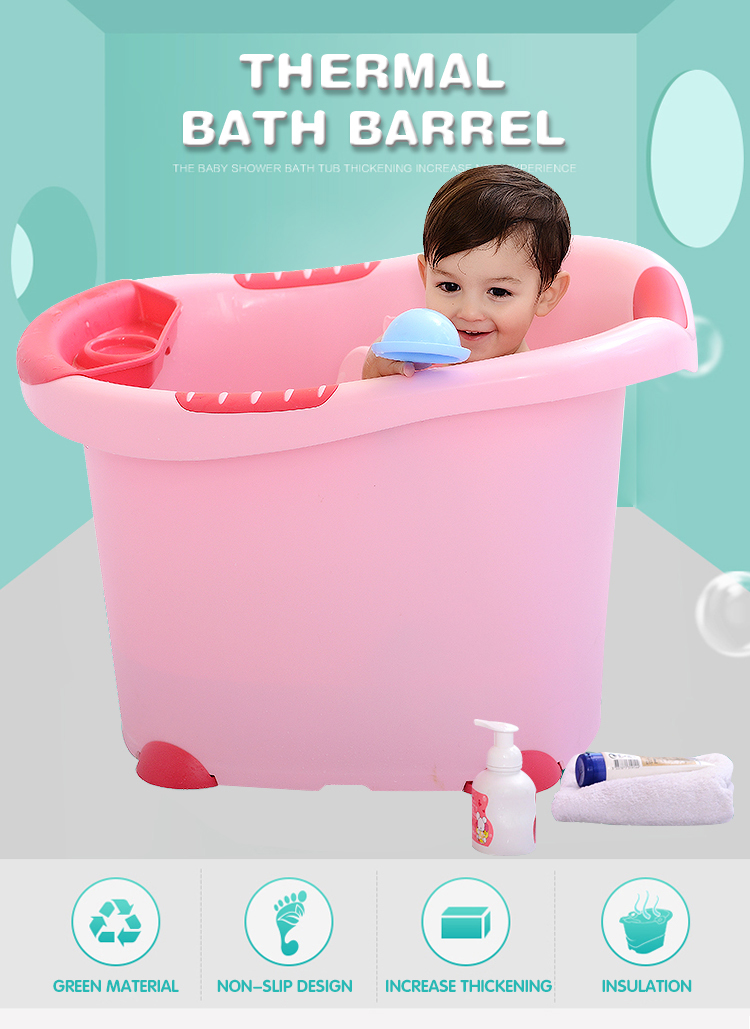 Eco-friend Plastic Baby Bath Bucket,Colorful Deep Baby Bath Bucket ...