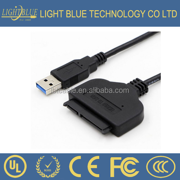 "1pc USB 3.0 Adapter Cable UASP 2.5/"" SATA Hard//Solid State Drive SSD HDD Transfer"