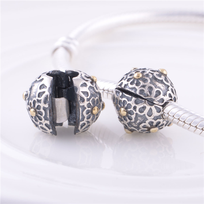 Get Quotations 925 Sterling Silver Lock Clip Core Stopper Charm Beads For Jewelry Making Diy Accessories Suitable