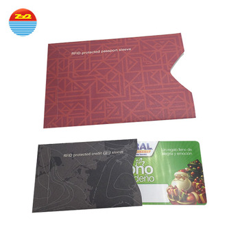 Information Protection Rfid Blocking Paper Cardpassport Sleeves