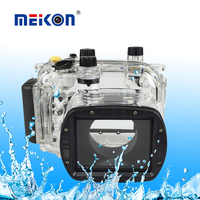 Meikon Newest 40M/130ft underwater diving camera waterproof case For Canon G11 G12