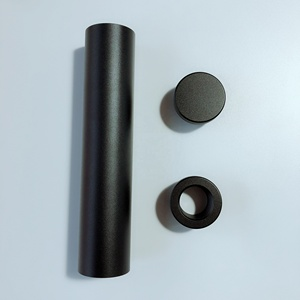 high-hard aluminum Al7075 silver anodizing solvent trap kit B Cell tube,  end cap and spacer