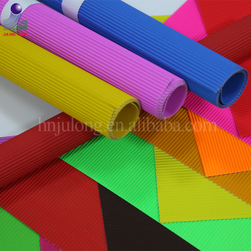 Manufacturer double side Craft color corrugated paper for DIY