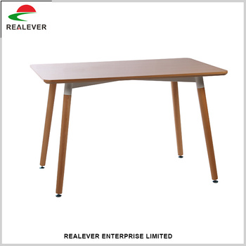 High Quality Living Room Furniture MDF Paint Beech Feet Retro Solid Wooden Side Table