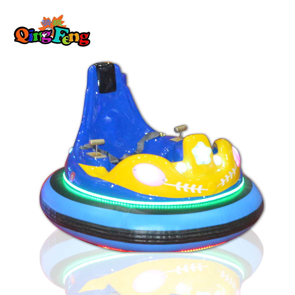 Qingfeng 2017 carton fair Space ship indoor coin operated Inflatable Battery bumper car sale