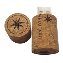4GB Wine Bottle Stopper Wood Cork USB flash memory Card drive Pen U disk packed gift