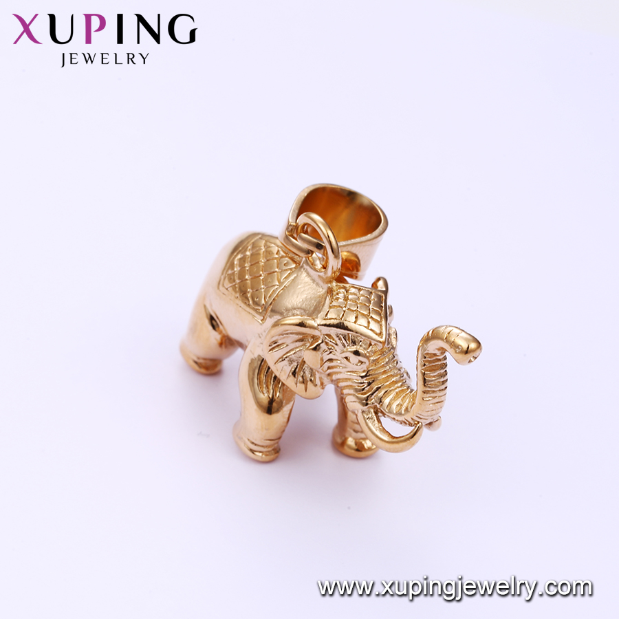33519 xuping animal charm pendant gold Stainless Steel elephant jewelry