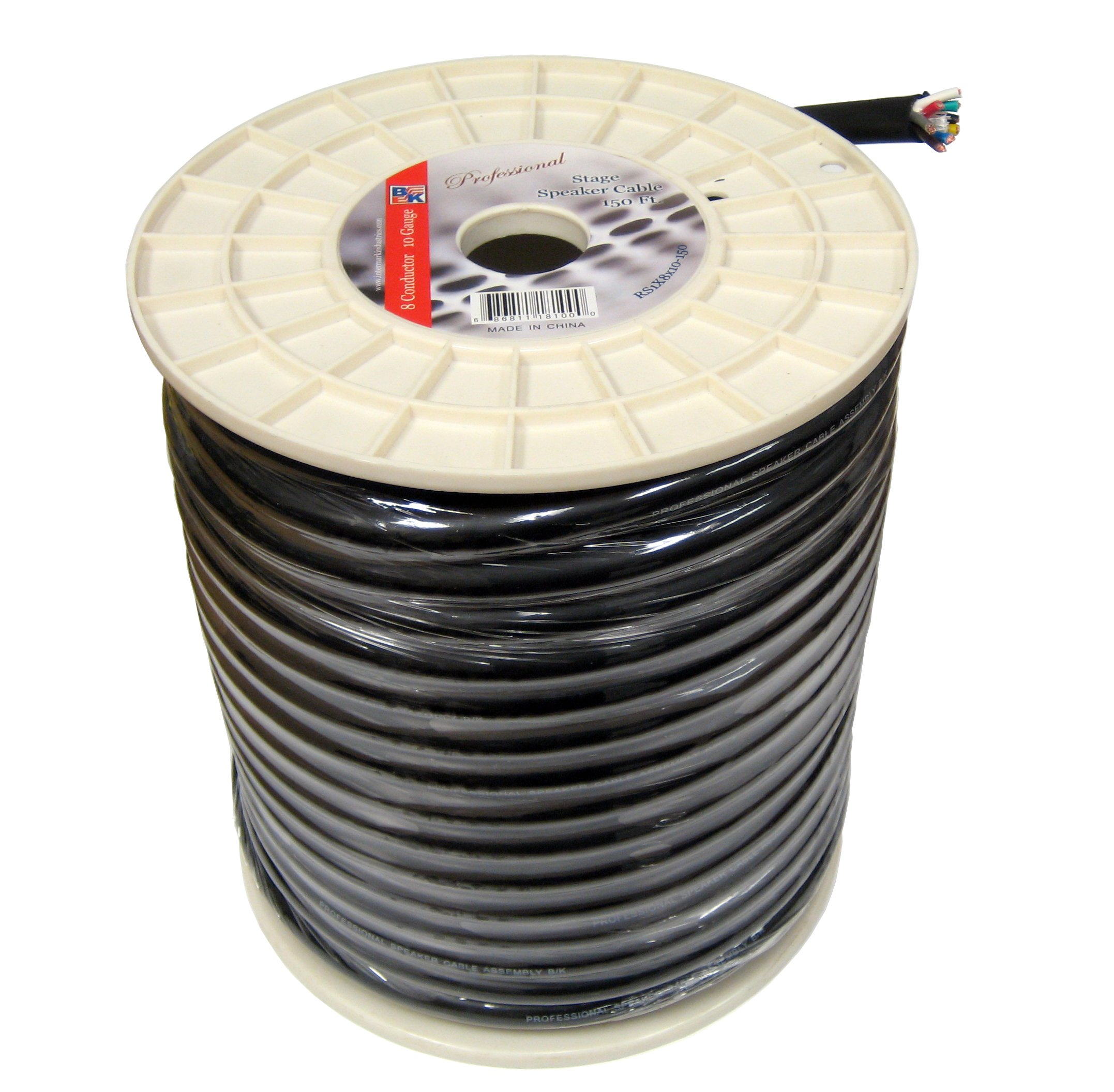 Blast King IRS1X8X10 150-Feet 10 AWG 8 Conductors Stage Speaker Cables