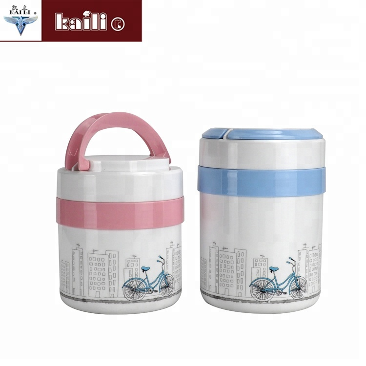 New products food container warm heating cartoon bento lunch pot keep food hot for school lunch box