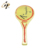 Custom metal enamel sports tennis racket gold lapel pin