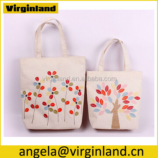 Recycle 100% Cotton Canvas Tote Drawstring Bags with UK Flap Printing  Design for Women 9364878009