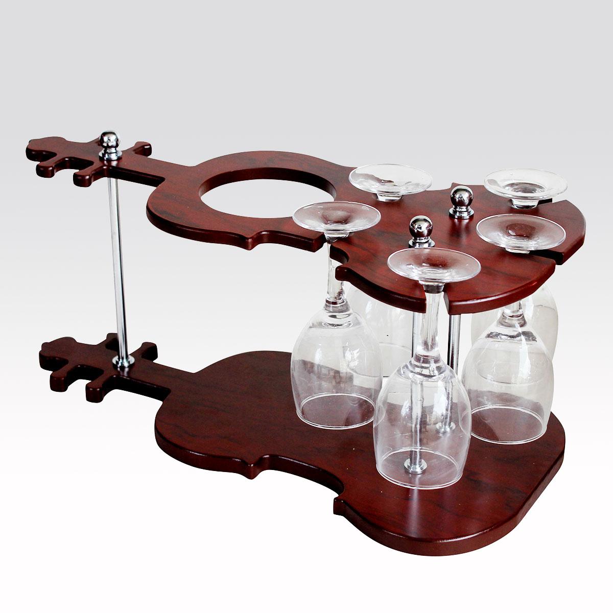 1110014 holz theke theroom weinregal weinregal h ngend becherhalter violine weinregal in. Black Bedroom Furniture Sets. Home Design Ideas
