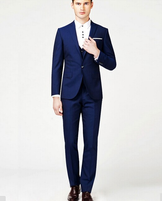 Buy Brand Royal Blue Tuxedo Men Suit Costume Homme 2015 Fashion ...