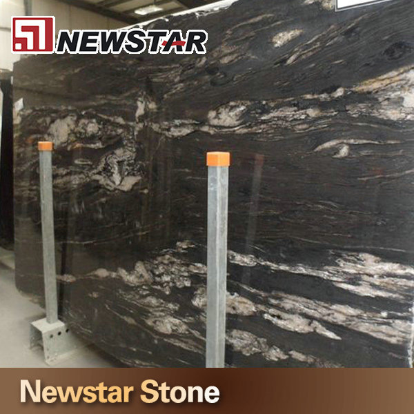 Alta calidad pulido granito negro con vetas blancas negro for Tipos de granito negro