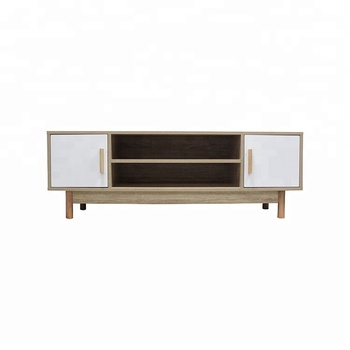 European modern style wooden wall mounted used tv stand cabinet with doors