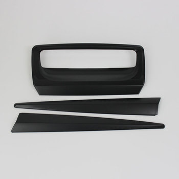 Matte Black Rear Door Handle Cover Plastic Rear Gate Cover For D-max 2016-2019