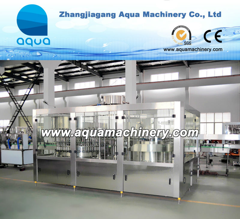 Small Bottled Liquid Water Packing Plant, Washing Filling Capping