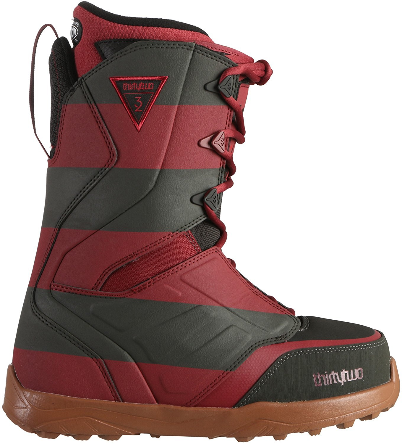 caba81faa37a Get Quotations · ThirtyTwo 17 18 Lashed Alito Men s Snowboarding Boots -  Black Red Gum