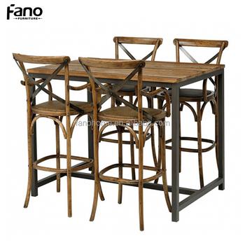 Sedie E Tavoli Vintage.Alta Vintage Industrial Bistro Cafe Bar Tavolo E Sedie Buy Bar