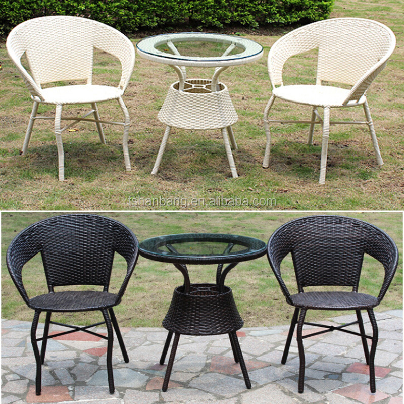 Small Wicker Pe Plastic Restin Rattan Outdoor 60cm Table Chairs Set Buy Sma