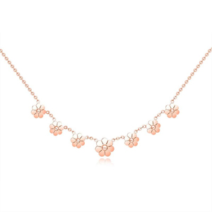 Cute daisy Flower Chain Stainless Steel Rose Gold Necklace Women Summer Accessories Cheap Jewelry Wholesale Yiwu Market Products
