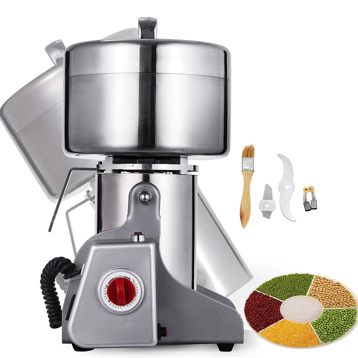 Happybuy Grain Grinder Mill Powder Machine Swing Type Commercial Electric Mill Grinder (750g)