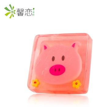 XINLIAN Kids square shape wholesale animal cartoon handmade soap customize children soap for whole body