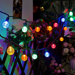 G30 Colored LED Globe Christmas Lights,13 Ft 25 Count Outdoor String Lights,Holiday Lights