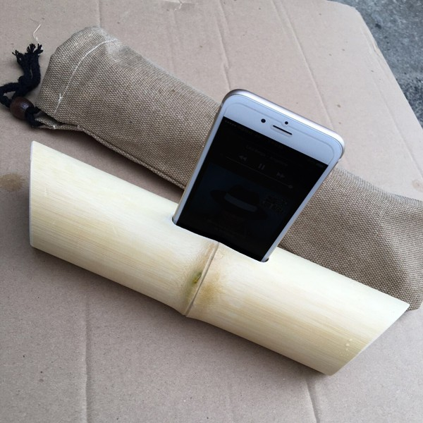 Simple green bamboo speakers for iPhone6/plus with Retail bag