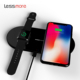Best quality wireless phone charger dual coil wireless charging for cellphone and smartwatch