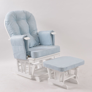 Glider nursing chair for breastfeeding mothers