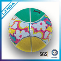 Wholesale rubber mini basketball 3# for kids lovely elephant ball toy printing children rubber basketball