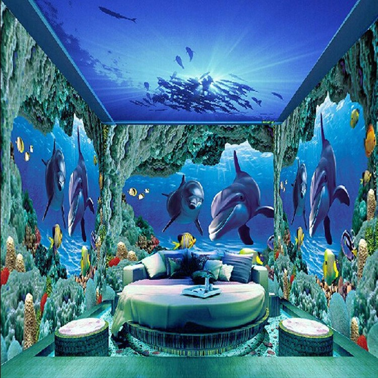 3d Wallpaper Of The Worlds Undersea Wallpaper Is Custom Made For
