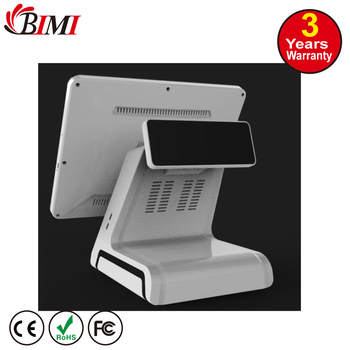 cheap pos system dual screen! 15 inches pos terminal price,all in one touch screen pos system,including pos machine