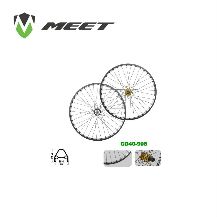 China made Carbon/Alloy Bicycle Wheelset 26/27.5/29 inch MTB Wheelset/Wheel set disc