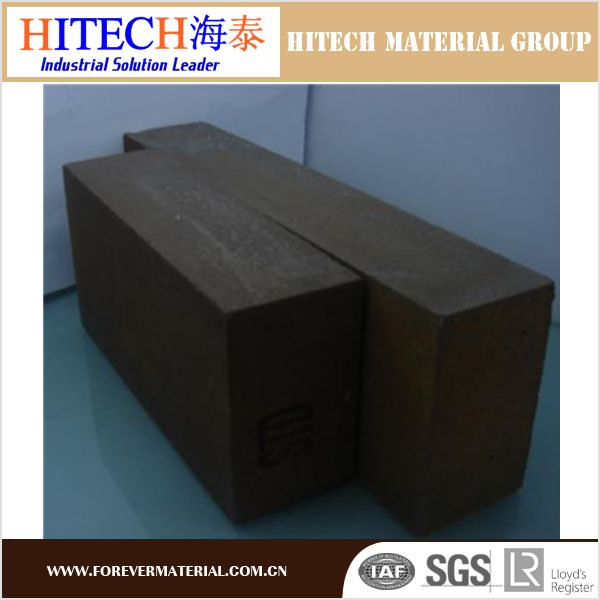 ZiBo Hitech high quality fire 76% MgO magnesia carbon brick with excellent thermal conductivity