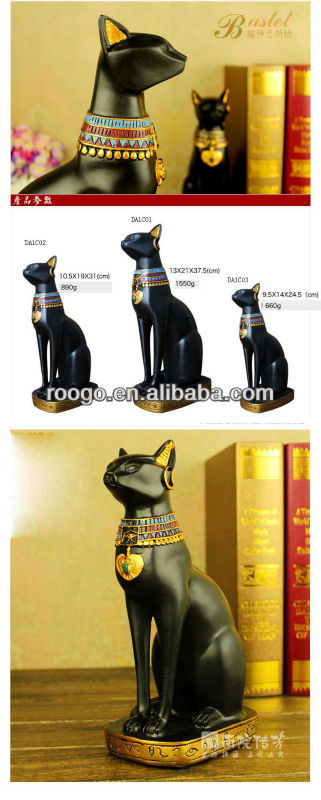polyresin Egypt cat figurine home decoration