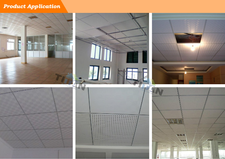 Pop Modern Designed PVC Gypsum Ceiling Tiles Tianjin