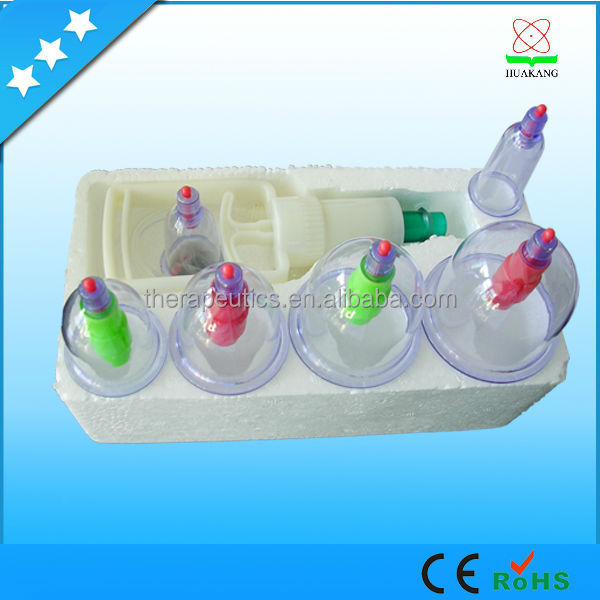 Silicone Vacuum Hijima Cupping Acupuncture Suction Cups Hkg-6 ...