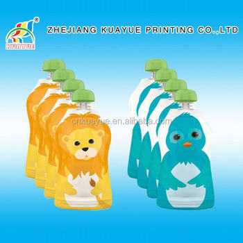 Durable Baby Reusable Food Pouch Cheap Safe Baby Food
