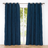 Embroidered Rhombic Geometric Semi-Sheer Grommet Simple European Style Home Curtains For Living Room