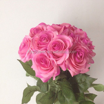 Artificial single stem real touch small pink purple rosehanging artificial single stem real touch small pink purple rose hanging flower arrangements mightylinksfo