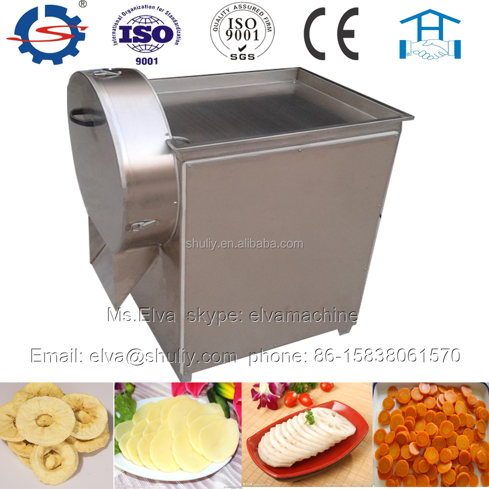 Full stainless steel thickness adjustable commercial potato chips cutter