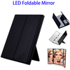 Online Shopping Light Up Compact Mirror, LED Lighted Travel Vanity Mirror Tri-Fold