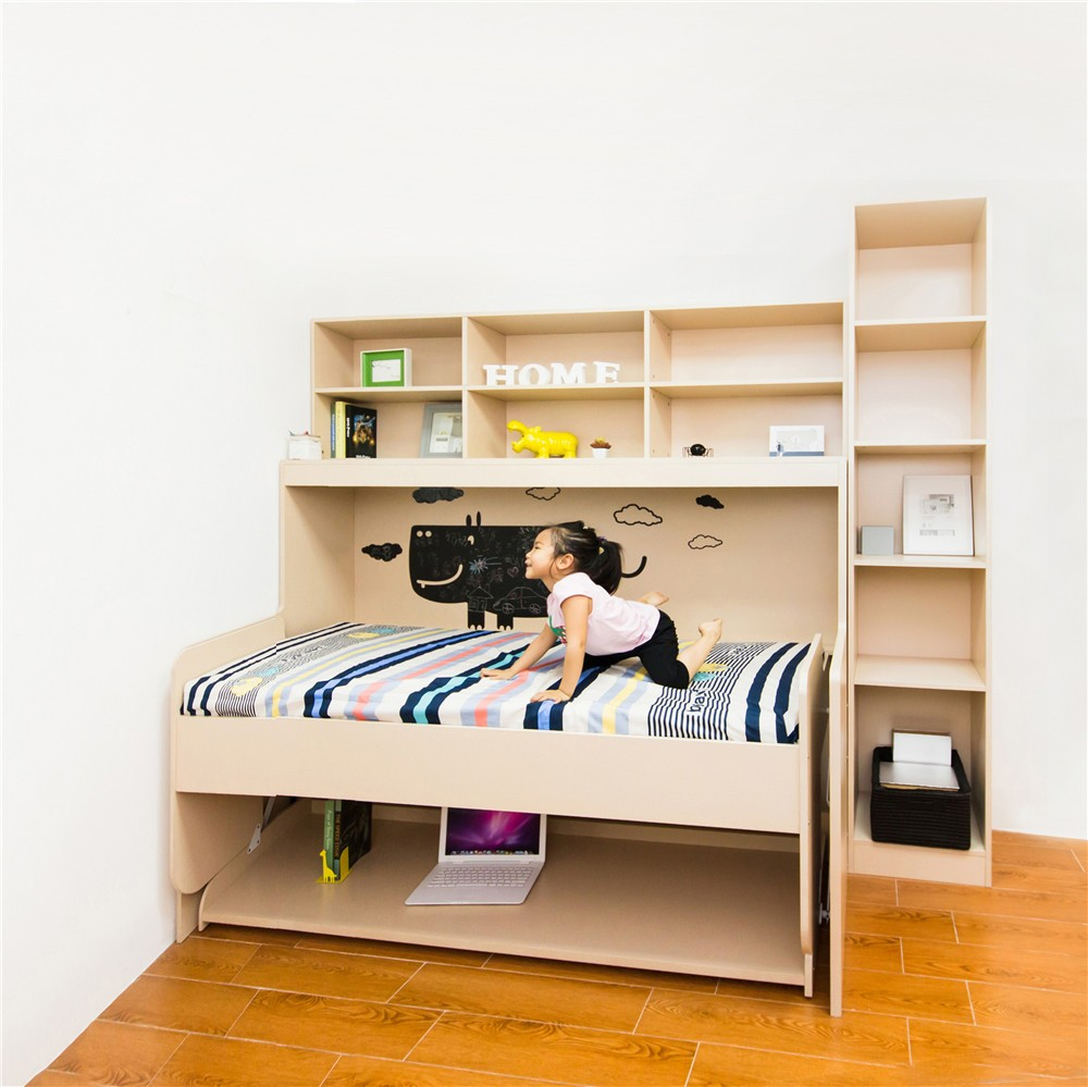 Wall bed for kids - Children Folding Cot Piano Wall Mounted Bed Kids Folding Wall Beds With Table